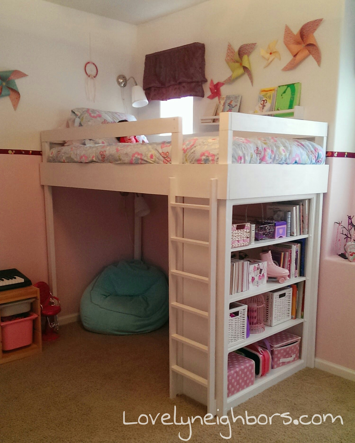 DIY Loft Bed for my Lovely Little Girl | Lovely Neighbors