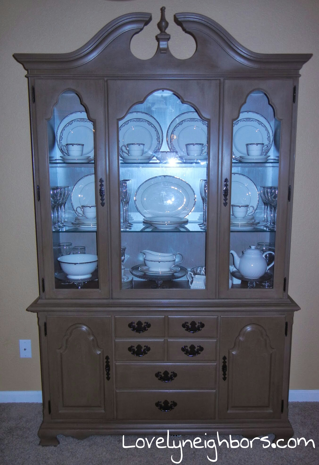 Chalk Painted China Cabinet Lovely Neighbors