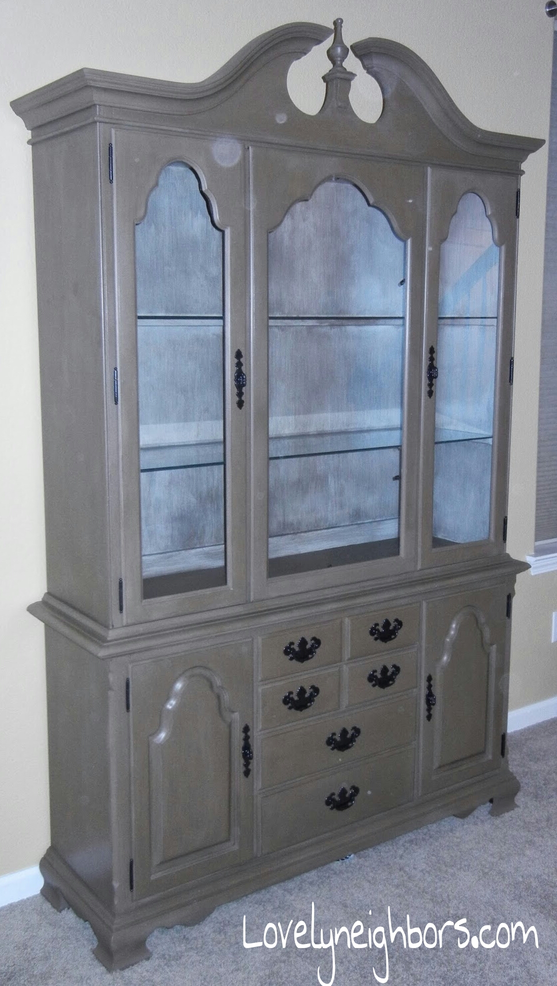 piece after wood china antique before update table and admirable light dining cabinet small hutch painted
