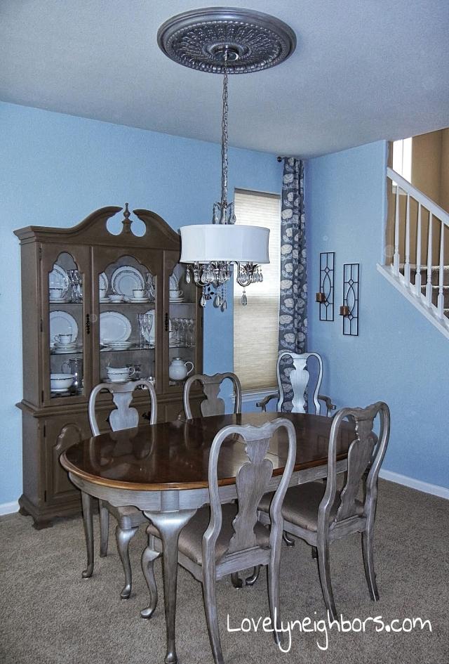 Lovely Neighbors - Dining room ceiling medallion